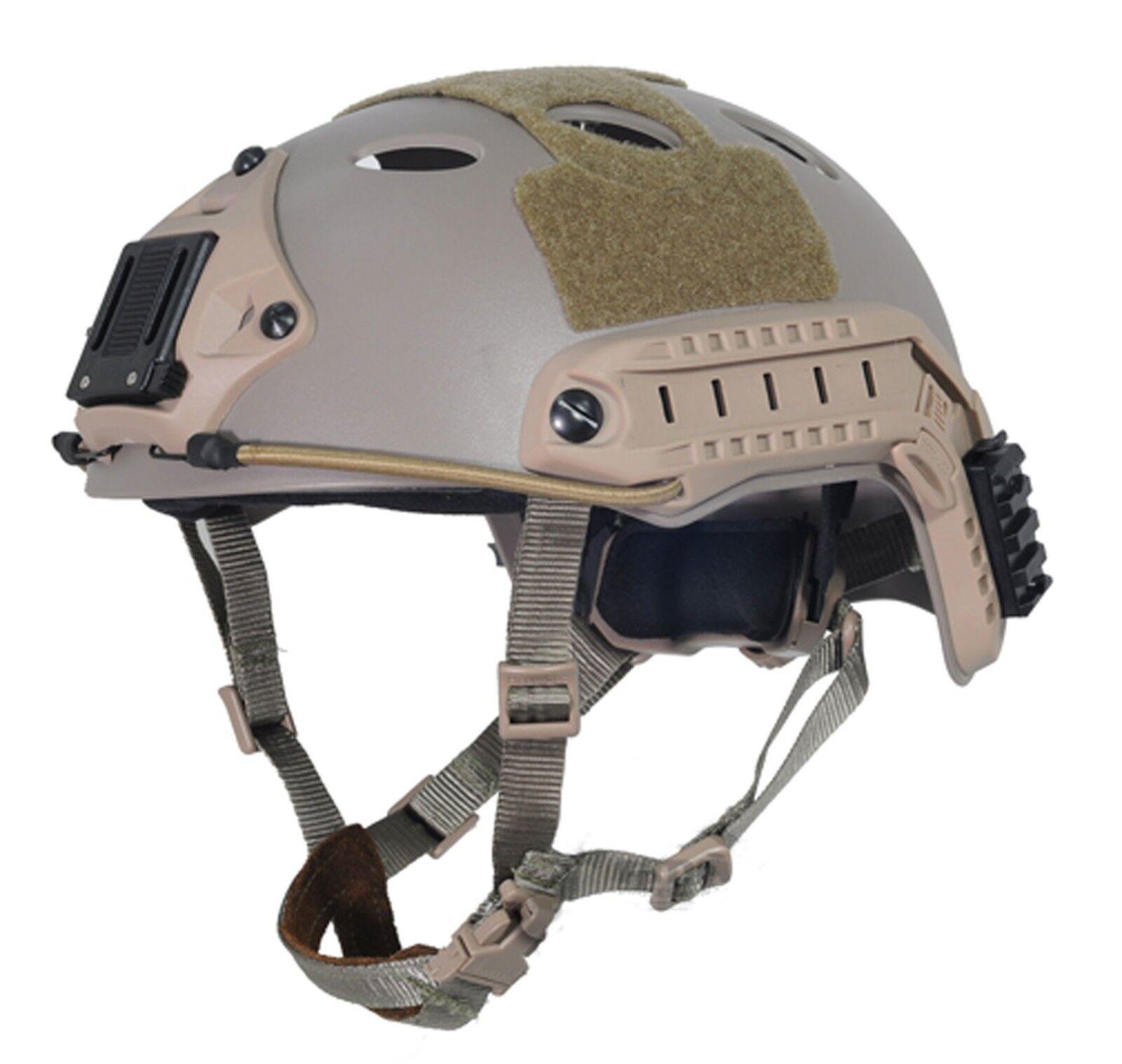 Military Tactical Airsoft Paintball FMA FAST Helmet-PJ DE T819 M L