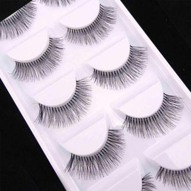 5 Pairs Natural Sparse Cross Eye Lashes Extension Makeup Long False Eyelashes CA