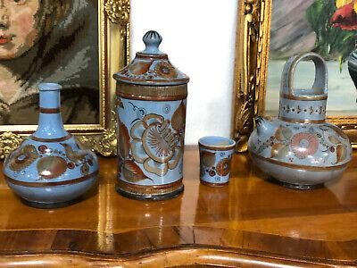 Mexico Töpferei Deckel Dose Kanne Vase S.p Gemarkt Alt Sammler Mexica Designer Einfach Und Leicht Zu Handhaben
