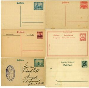Germany-Stamps-Postal-Cards-Scarce-Group-Of-6