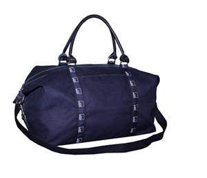 Authentic-Premium-Goldman-Sachs-19-Saddle-Banker-Bag-with-Leather-Navy