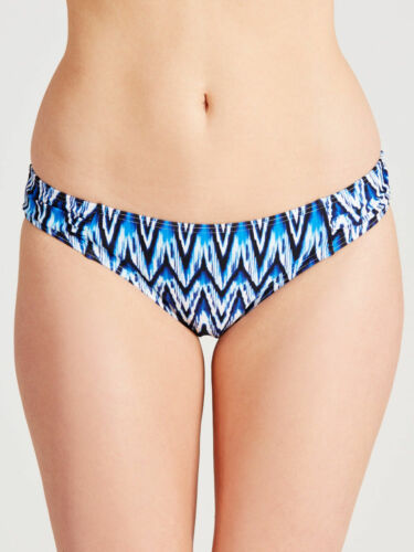 Swim Bikini Bottoms RRP £15 BNWT John Lewis Ocean Ikat Ruched Side Brief