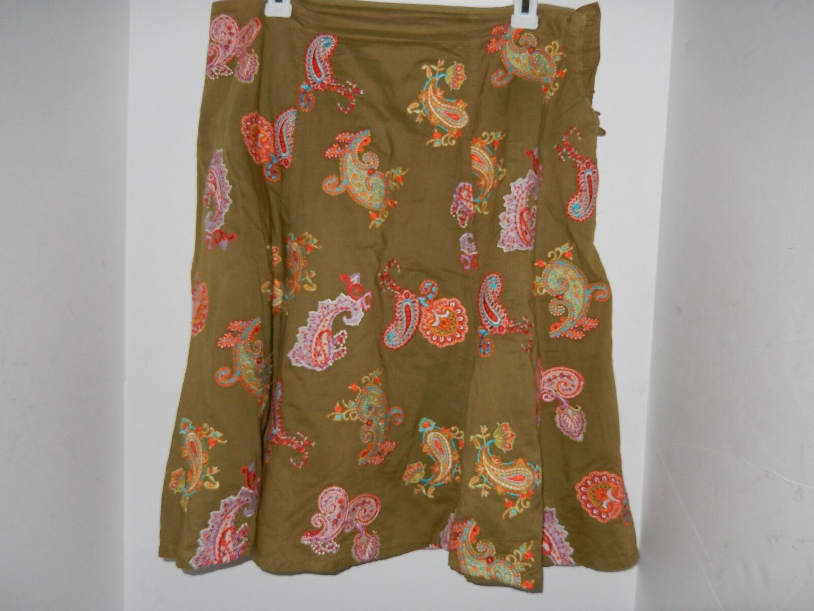 JOHNNY WAS EMBROIDERED SKIRT Size 10
