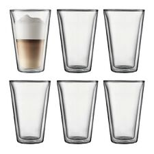 BODUM CANTEEN 6PC DOUBLE WALL GLASS LARGE 400ML