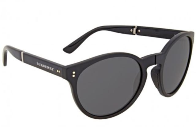 0da358e184 Burberry Be 4221 35945v Matte Black Round Folding Sunglasses Italy 55mm