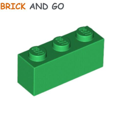 NEUF NEW green vert Brick 1x3 6 x LEGO 3622 Brique