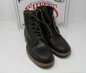 Whites-Boots-MPM1-D-Dark-Brown-Wax-10-D-6-034-Dainite-soles