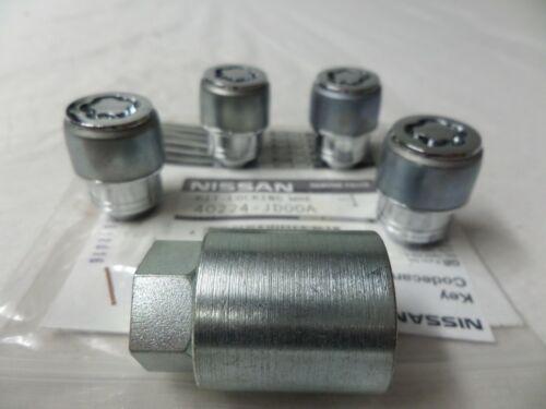 Nissan Qashqai Verrouillage Roue Nut Set 40224JD00A