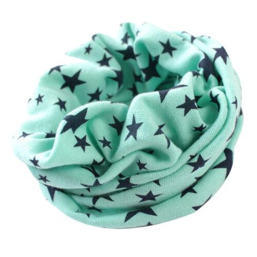 Kids Fashion Stars Cotton Neckerchief Scarves Cute Shawl Knitting Kerchief New
