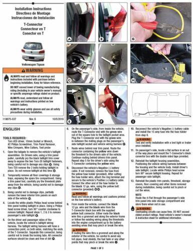 Trailer Wiring Harness Kit For 12-17 Volkswagen Tiguan 2018 VW Tiguan Limited