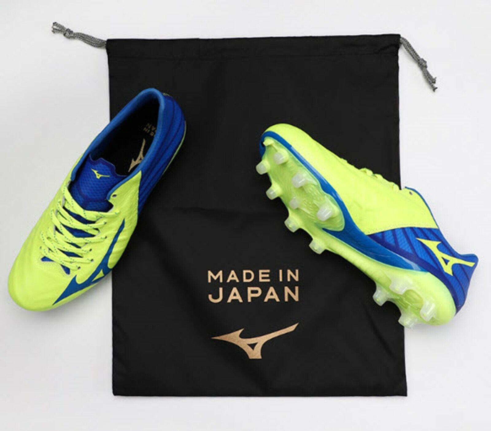 Mizuno Hombre Rebula 3 Japón Botines De Fútbol Azul Lima fútbol Spike Zapato P1GA196023