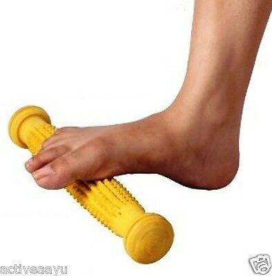 Acupressure Wooden Foot Roller Massager | anti - Stress Body Reflexology Therapy