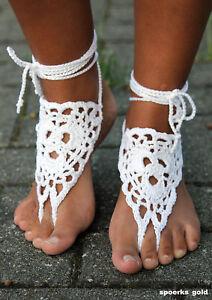 Barfuß Sandale Gehäkelt Festival Goa Hippie Handmade Unikat Fußschmuck Sommer Wir Haben Lob Von Kunden Gewonnen