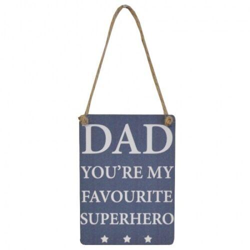 DAD YOU/'RE MY FAVOURITE SUPERHERO MINI Metal Sign SMALL Plaque Family Parent