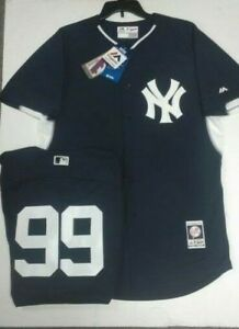 online store e72ef b7763 Details about Aaron Judge Yankees Majestic Men's Authentic Batting Practice  Jersey 44 48 52