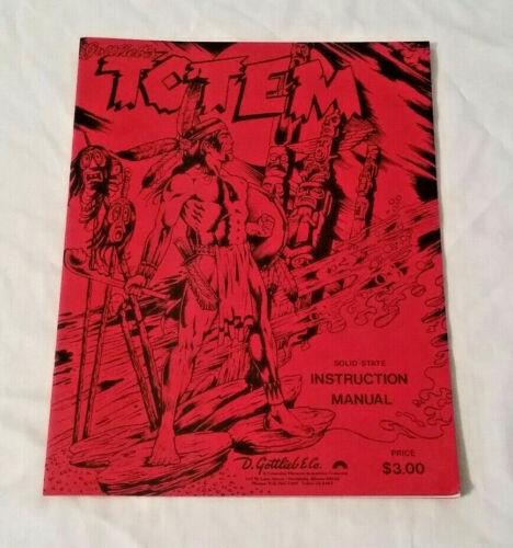 New! Gottlieb Totem Pinball Machine Original Manual NOS Free Shipping
