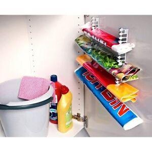Organizer componibile salvaspazio per sacchetti e buste nei mobili ...