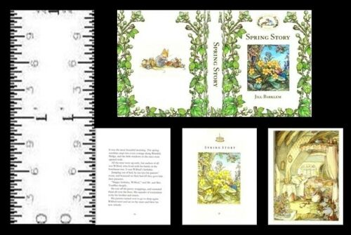 1:12 SCALE MINIATURE BOOK SPRING STORY BRAMBLY HEDGE DOLLHOUSE