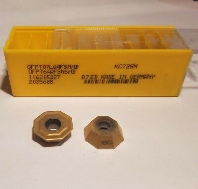 OFPT 64AFSN6HB KC725M 07L6AFSNHB KENNAMETAL ** 10 INSERTS *** FACTORY PACK **