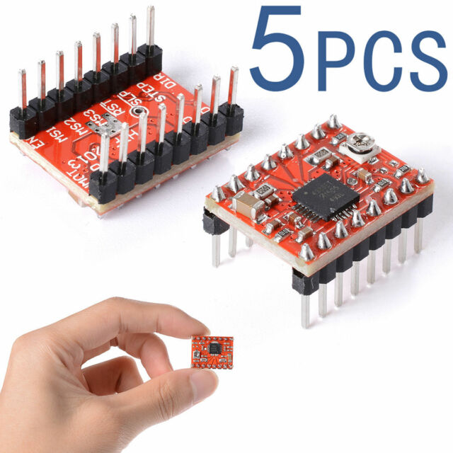 5PCS 3D Printer A4988 Stepper Motor Driver Reprap +Self-adhensive Heatsink TE208