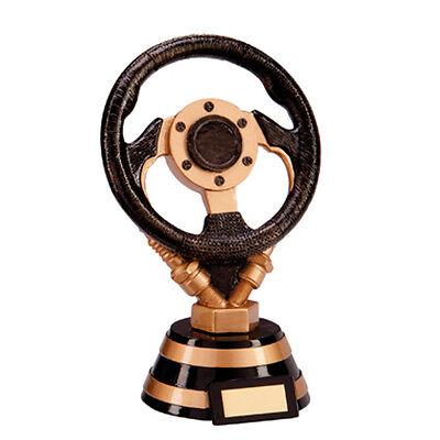 """MOTORSPORT Steering Wheel Trophy FREE ENGRAVING Personalised Driving Award 6.5/"""""""