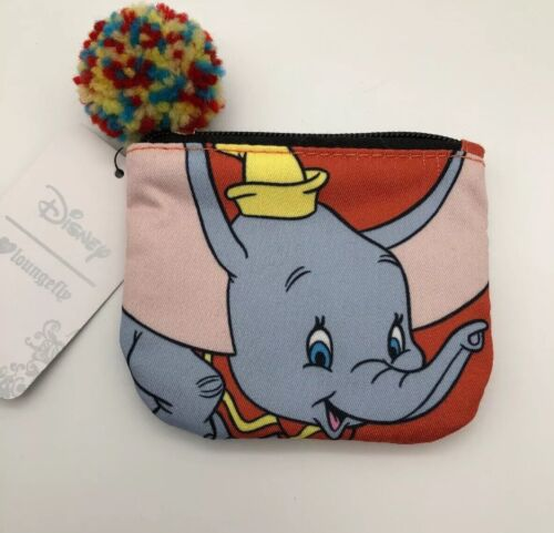 Loungefly Disney Dumbo Flying Elephant Circus Coin Purse Zipper ID Wallet Bag