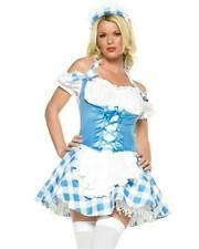 MARY ' S LITTLE LAMB lycra gingham dress adult womens halloween costume XS
