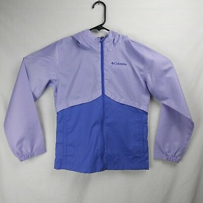 The Cheapest Price Columbia Zip Up Windbreaker Jacket Unlined Purple Women's Size 10/12 Medium Highly Polished Activewear Jackets Activewear