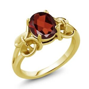 1-80-Ct-Oval-Red-Garnet-18K-Yellow-Gold-Plated-Silver-Ring