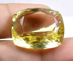 40-75-Ct-Untreated-Yellow-Topaz-Germany-Clarity-Cushion-Cut-Rare-Gemstone-F0959