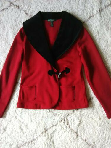 Lauren by Ralph Lauren Women Red Fleece Jacket Bla