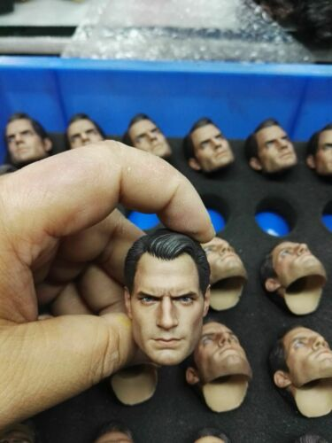 "1//6 Superman Head Sculpt Henry Cavill Head Model For 12/"" Male Solider PH Body"