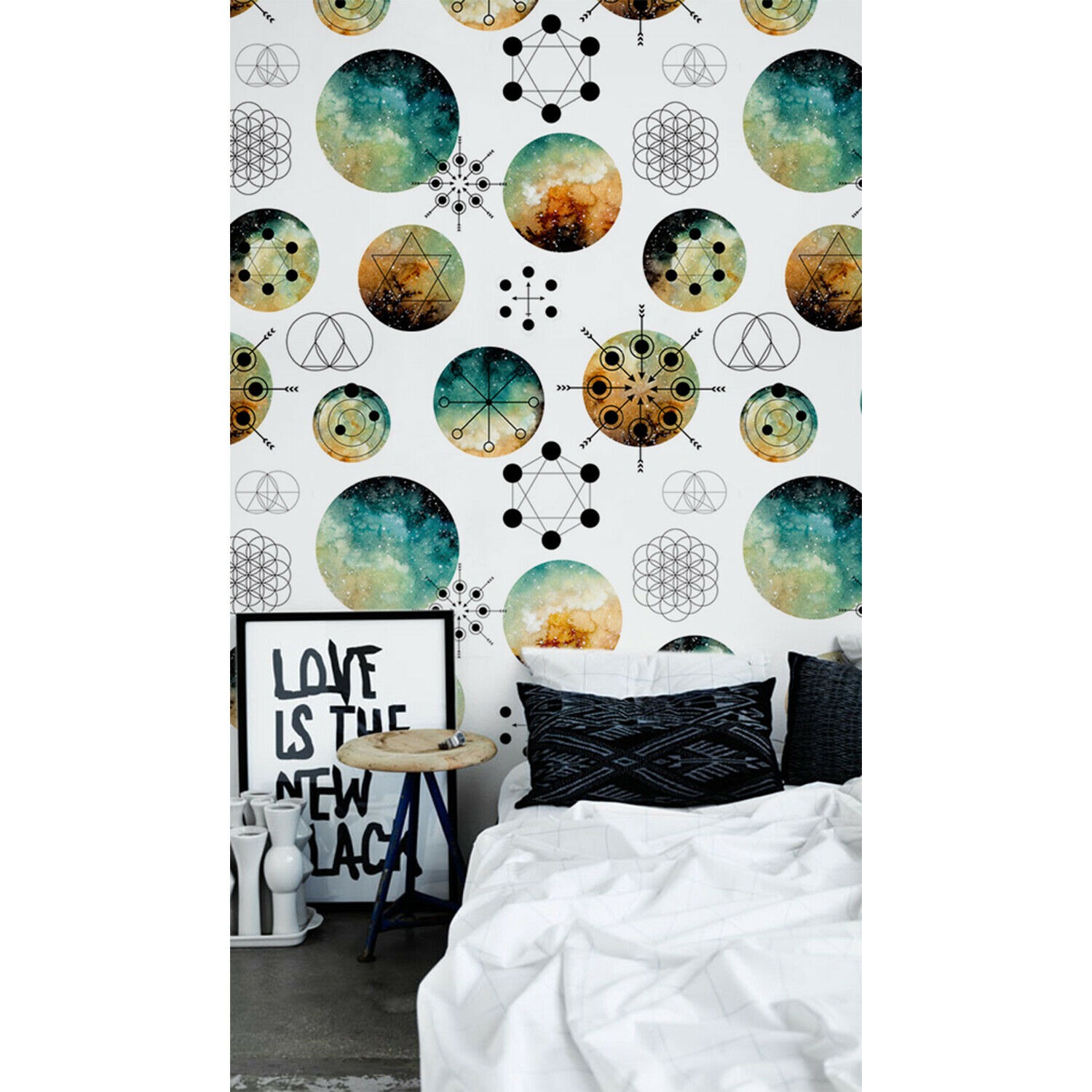 Intergalactic Geometry Non-Woven wallpaper Simple wall mural Scandinavian Home