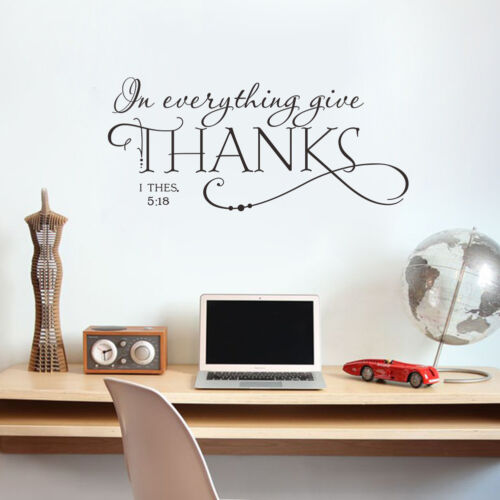 In Everything Give Thanks 1 Thessalonians 5:18 Bible Quotes Wall Decals Stickers