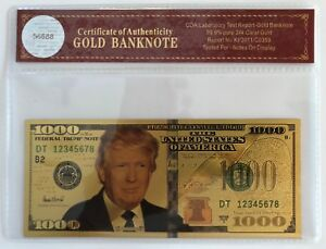 President-Donald-Trump-1000-Dollar-Bill-24K-Gold-3D-Overlay-With-COA