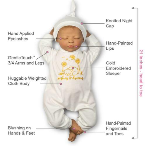 Wishes and Dreams Paradise Galleries Newborn Reborn Doll With Magnetic Pacifier