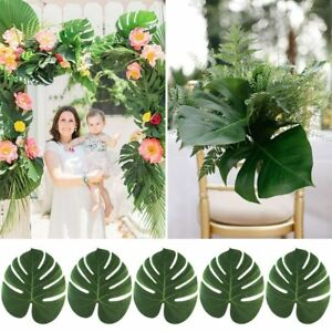 12Pack-Silk-Artificial-Tropical-Palm-Leaves-Hawaiian-Luau-Party-Table-Decoration