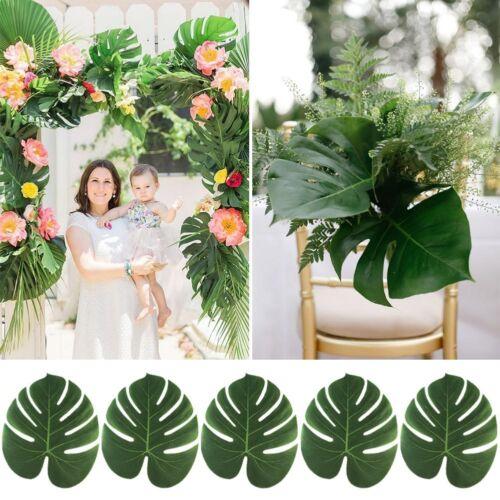 120xSilk Artificial Tropical Palm Leaf Hawaiian Luau Party Wedding Placemat Deco