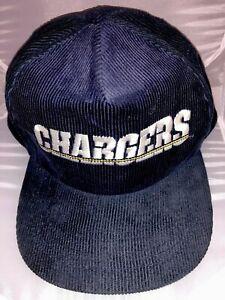 VTG-San-Diego-Chargers-NFL-Starline-80s-Corduroy-Snapback-Baseball-Cap-Hat-EUC