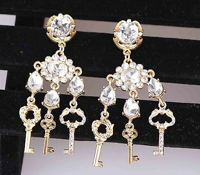 Hot Charm Fashion Jewelry Crystal Rhinestone Ear Drop Dangle Stud Earrings 773