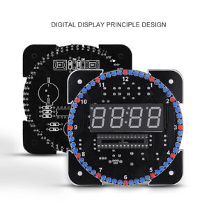 Details about DS1302 Rotating LED Clock Electronic Digital Temperature  Alarm Time 5V Kit DIY