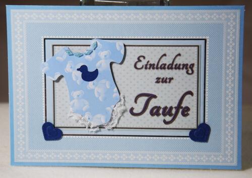 Unusual 3d Card Handmade Invitation Card Boy Christening