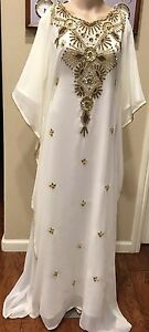 Details About Dubai Very Fancy Kaftans Abaya Jalabiya Ladies Maxi Dress Wedding Gown