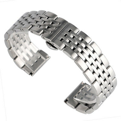 20/22/24mm Solid Stainless Steel Bracelet Silver Watch Band Wrist Strap Luxury