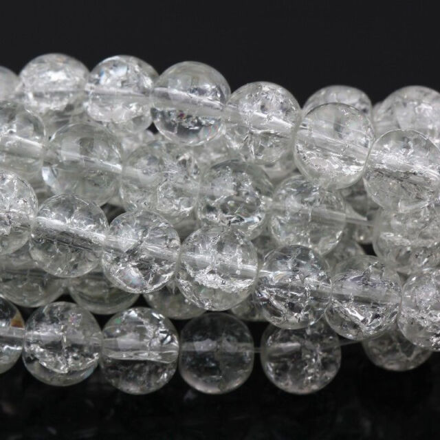 Lots 20/50/100Pcs Crystal Glass Crackle Loose Charms Spacer Beads 6/8/10/12mm