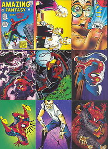 Spiderman 2-30th Anniversary Full 90 Card Trading Card Base Set Comic Images