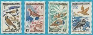 Original Saint-pierre Et Miquelon De 1963 ** Cachet Minr. 398-401 - Oiseaux!