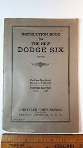 1936-DODGE-6-Cylinder-Original-Owner-039-s-Manual-4th-Ed-Good-Condition-US