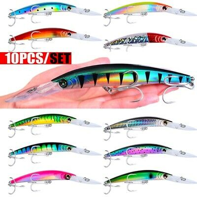 10pcs//lot Lure Kit Minnow Fishing Lure 18cm 23g Hard Bait Crankbait Wobbler Big