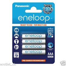 4x Panasonic Eneloop Micro AAA 750 mAh Rechargeable Battery/Batteries NEW